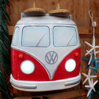 【同梱不可】フォルクスワーゲン サンババス フロントウォールデコレーション VW Samba Bus w/surf Front End Wall Decor Light Up