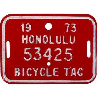 ハワイ自転車用ナンバープレートRE 70s Hawaii bicycle tag