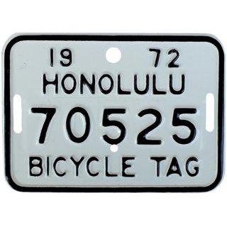 ハワイ自転車用ナンバープレートWH 70s Hawaii bicycle tag