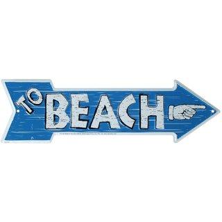 ビーチメタルプレート To BEACH アローサイン