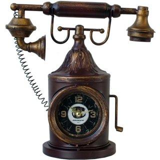 アンティーククロック PHONE レトロ電話型