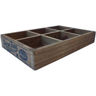 ダルトン 6 パーテーション ウッドボックス(木箱) ナチュラル DULTON 6 PARTITION WOODEN BOX