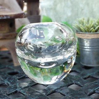 フラワーベース ガラスボウル(泡入り)Lサイズ