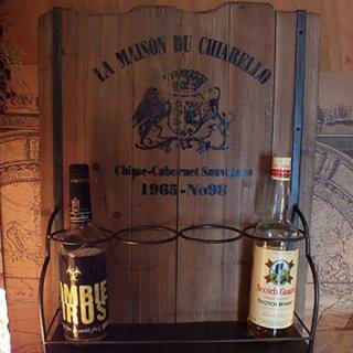 【同梱不可】ウッドクレートウォールワインラック Wood Crate Wall Wine Rack