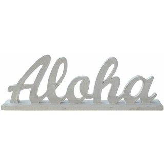 ハワイアン ミニメッセージスタンド アロハ ALOHA LOGO WH