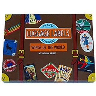 トラベルステッカー Luggage Labels WINGS OF THE WORLD