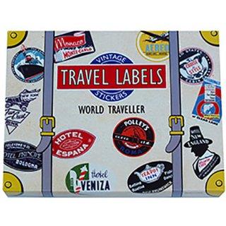 トラベルステッカー Luggage Labels WORLD TRAVELLER