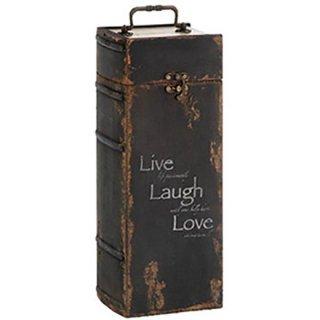 アンティークルッキング ワインケースDX Live Laugh Love