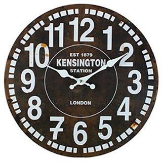 MDFアンティーク調ウォールクロック KENSINGTON STATION #20441