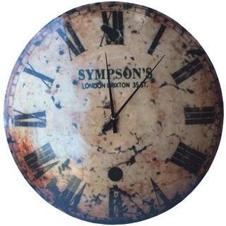 【同梱不可】ヴィンテージ風ラージウォールクロック SYMPSON'S CLOCK 58cm