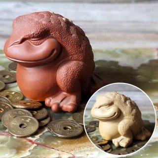 風水 三本脚の蛙・牛泥水吐き銭蛙