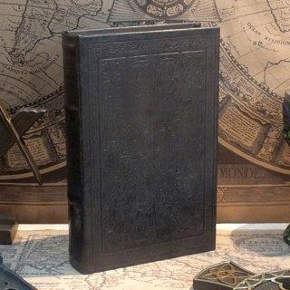 ブックケース/ボックス エンボス 洋書風本型収納箱