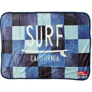 クォーターケットプリントひざ掛け デニムパッチワーク SURF Denim Patchwork