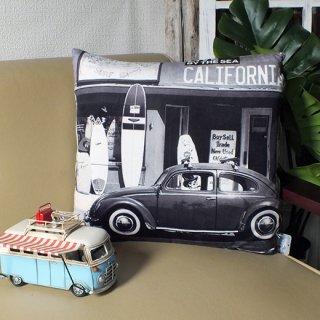 カリフォルニアスタイル プリントクッション サーフショップ Surf Shop