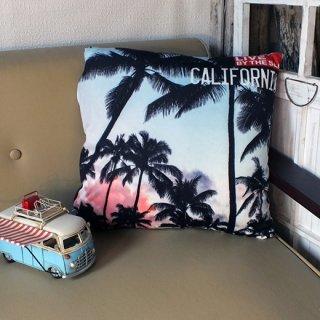 カリフォルニアスタイル プリントクッション パームツリー Palm Tree