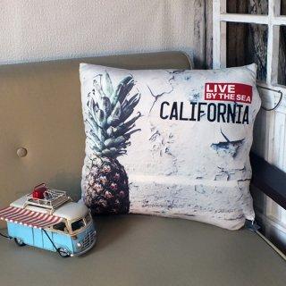 カリフォルニアスタイル プリントクッション パイナップル Pineapple