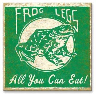 ヴィンテージウッド看板 Frog Legs all you can eat