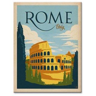 【同梱不可】ヴィンテージウッド看板 Colosseum Rome,Italy