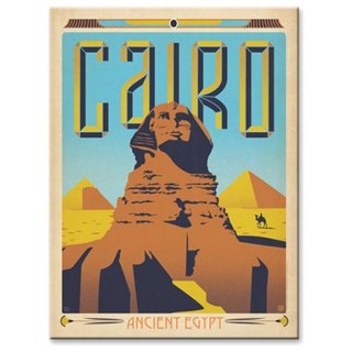 【同梱不可】ヴィンテージウッド看板 Cairo,Egypt