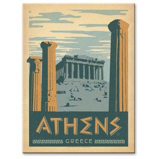 【同梱不可】パルテノン神殿 ヴィンテージウッド看板 Athens,Greece