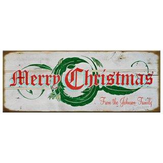 【同梱不可】クリスマス ヴィンテージウッド看板 Merry-Christmas