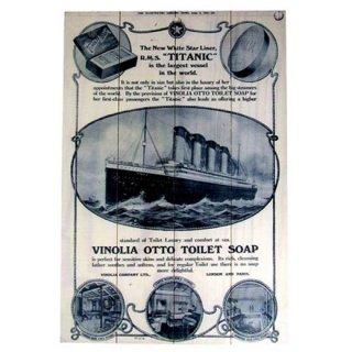アンティーク ウッドパネルポスター タイタニック TITANIC