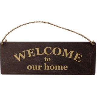 ミニサインボード ウエルカム/WELCOME our home MINI SIGN BOARD