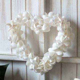 シェルハートリース(貝殻リース)Heart Shell Wreath