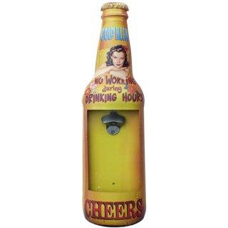 ビックボトル型 シェイプドボトルキャップオープナー ビアガール