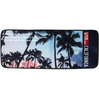 カリフォルニアスタイル インテリアロングマット パームツリープリント Palm Tree