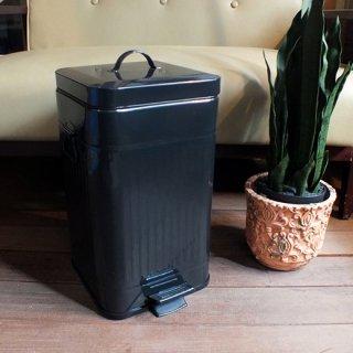 ペダルビン ペダル式ゴミ箱 スクエア L-ブラック