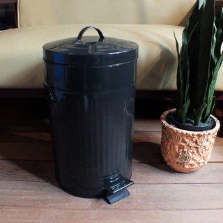 ペダルビン ペダル式ゴミ箱 ラウンド L-ブラック