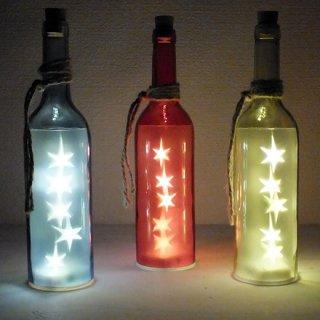 ワインボトル型LEDライトオブジェ