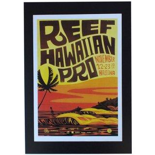 ハワイアンポスター ハワイ・サーフコンテスト REEF HAWAIIAN PRO 2014