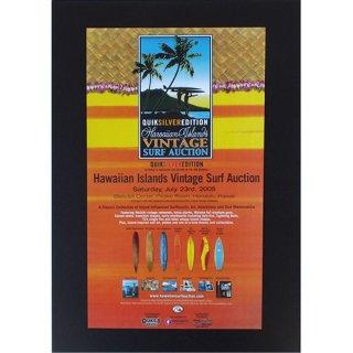 ハワイアンポスター サーフィンスタイル Hawaiian Islands Vintage Surf Auction