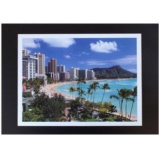 ハワイアンポスター ハワイ・ワイキキビーチ WAIKIKI BEACH