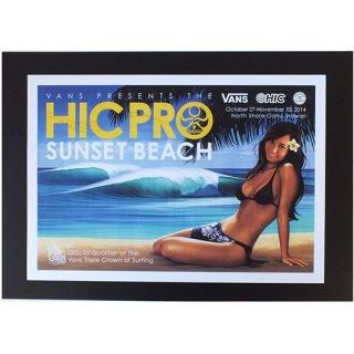 ハワイアンポスター ハワイ・サーフコンテスト HICPRO 2014 Triple Crown of Surfing