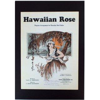 ハワイアンポスター ノスタルジックハワイ Arranged for Steel Guitar Hawaiian Rose