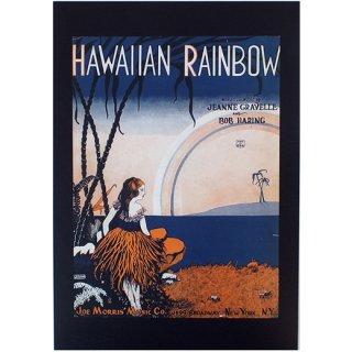 ハワイアンポスター ノスタルジックハワイ JOE M0RRIS MUSIC Hawaiian Rainbow