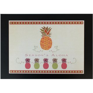 ハワイアンポスター アロハハワイ SEASON'S ALOHA Pineapple