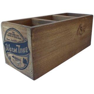 ダルトン 3 パーテーション ウッドボックス(木箱) ナチュラル DULTON 3 PARTITION WOODEN BOX