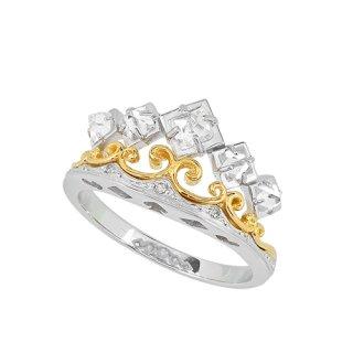 クラシックティアラ 18K 2トーン ラフダイヤモンドリング