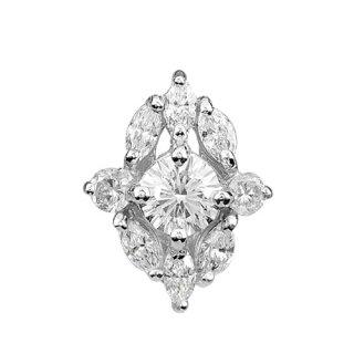 18K WG ヴィーナスアローダイヤモンド MQRDメレPDヘッド