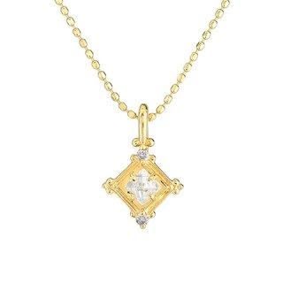 18K YG ラフダイヤモンド クラシカルスクエアペンダントヘッド
