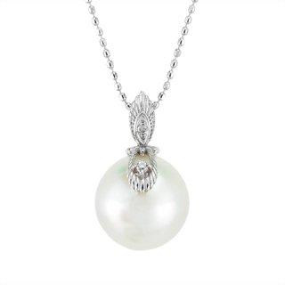 18K WG 白蝶真珠 ナチュラルホワイトペンダントヘッド