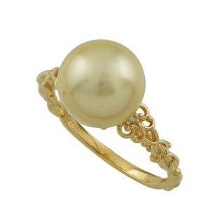 18KYG 南洋真珠シャンパンカラーリング