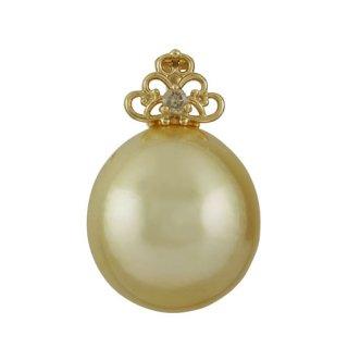 18KYG 南洋真珠シャンパンカラー ペンダントヘッド