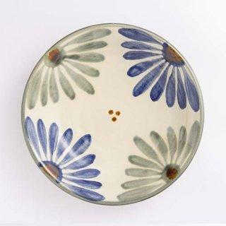 やちむん 育陶園 7寸皿(菊紋)