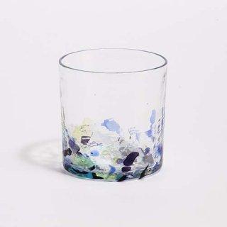 琉球ガラス 海風 アクアリーフ 広口ロックグラス