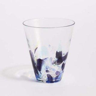 琉球ガラス 海風 アクアリーフ広口グラス大
